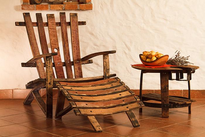Fotelj iz hrastovih sodov